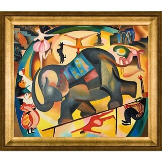 Alice Bailly 'The Elephant' Hand Painted Framed Oil Reproduction on Canvas