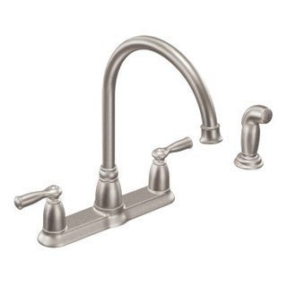 Moen Banbury Spot Resist Stainless Steel Centerset 4 Piece Sidespray Kitchen  Faucet