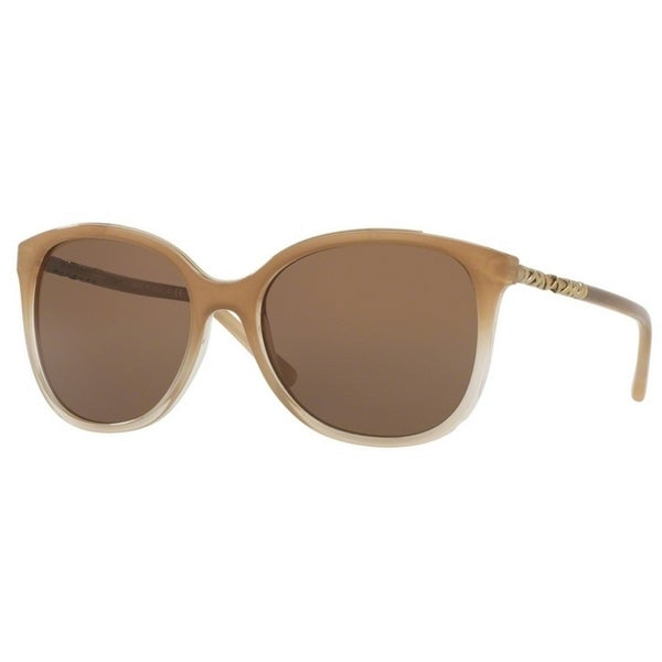 713e480f27d5 Burberry Women  x27 s BE4237 335473 57 Square Metal Plastic Brown Brown  Sunglasses