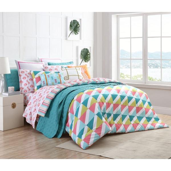 Clairebella Tropical Reversible 3-piece Comforter Set