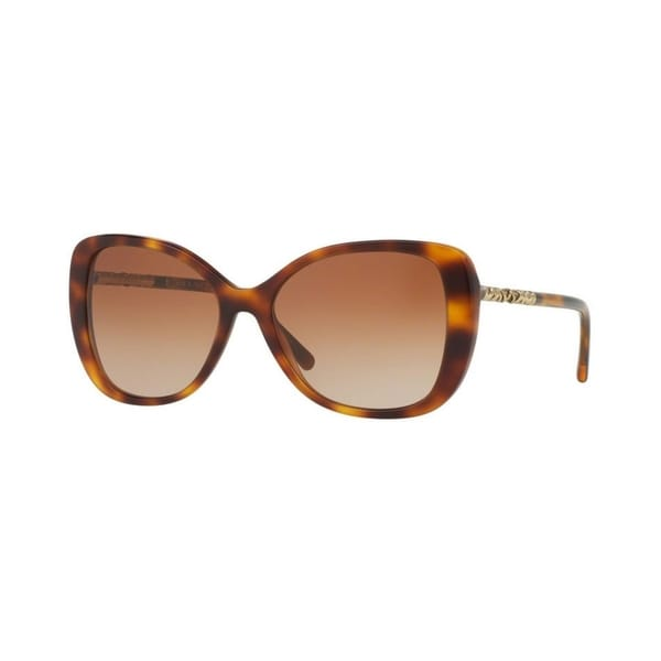 99d6f3ba97fd Burberry Women  x27 s BE4238 331613 57 Cateye Metal Plastic Havana Brown  Sunglasses
