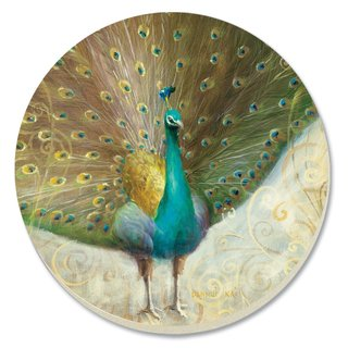 Counterart Absorbent Stone Coaster (Set of 4) Teal Peacock