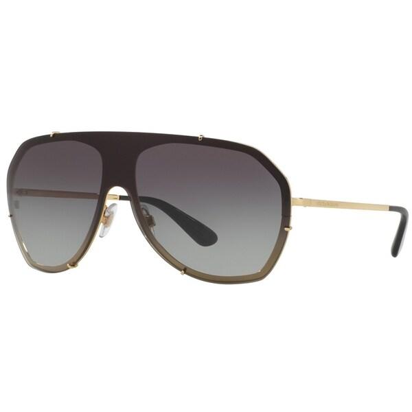 68305331d308 Shop Dolce   Gabbana Women s DG2162 02 8G 37 Aviator Metal Plastic ...