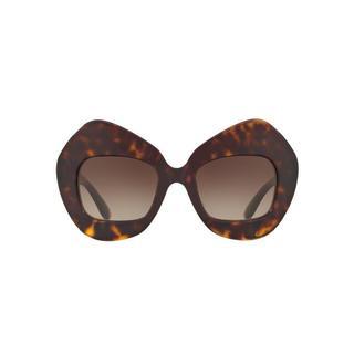 Dolce & Gabbana Women's DG4295 199513 57 Oval Plastic Brown Sunglasses