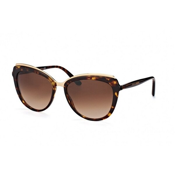 1e398b8d2369 Shop Dolce & Gabbana Women's DG4304 502/13 57 Cateye Plastic Havana Brown  Sunglasses - Free Shipping Today - Overstock - 14680324