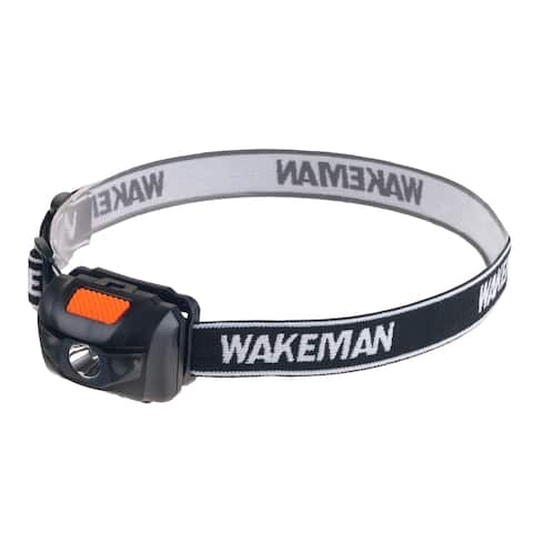 LED 4 Mode Headlamp, Lightweight with 80 Lumen and COB Bulbs by Wakeman Outdoors