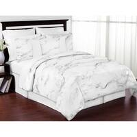 Sweet Jojo Designs Black and White Marble Collection 3-piece Comforter Set