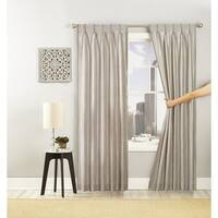Peking Handicraft Polyester Matte and Shiny Grommet Glide Curtain Panel
