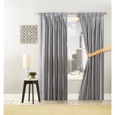 Peking Handicraft Polyester Matte and Shiny Grommet Glide Curtain Panel