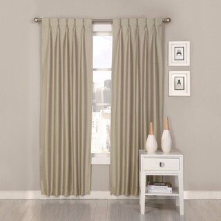 Polyester Antique Satin Palace Pinch Pleat Curtain Panel Pair (3 options available)
