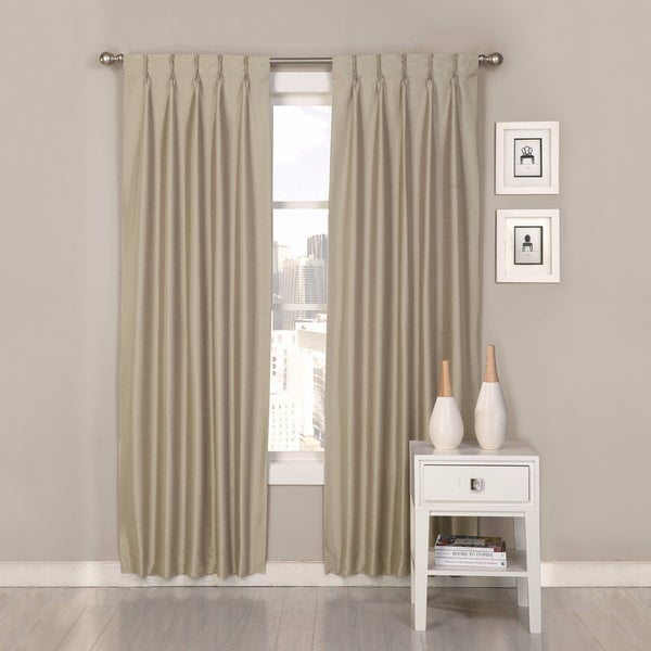 Polyester Antique Satin Palace Pinch Pleat Curtain Panel Pair