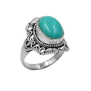 Sterling Silver Turquoise Lacy Ring|https://ak1.ostkcdn.com/images/products/14681069/P21215067.jpg?impolicy=medium