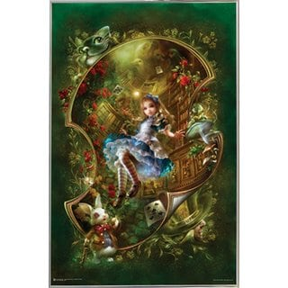 'Alice' 24-inch x 36-inch Poster With Silvertone Metal Frame