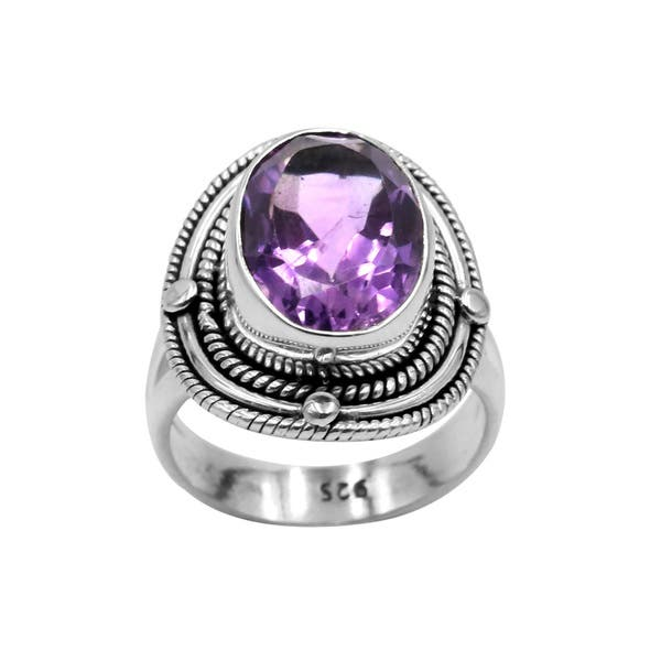 dc570076ac195c Shop Sterling Silver Amethyst Oval Ring - Free Shipping On Orders ...