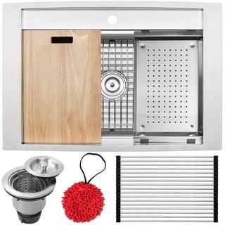 Ticor 16-gauge Stainless Steel Single Bowl Kitchen Sink