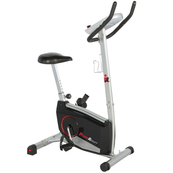FITNESS REALITY 210 Upright Exercise Bike with 21 Computer Workout Programs