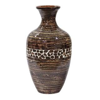 Heather Ann Creations Brown Wood Venetian Finial Vase