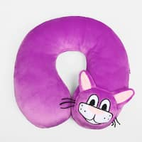 Berkshire Blanket Purple Kitten Kids Travel Neck Pillow