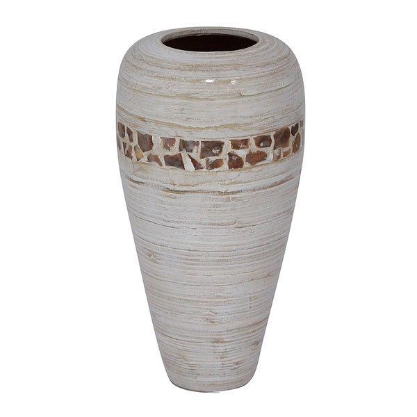 Heather Ann Creations Handcrafted Big Top Bamboo Vase for Table or Floor