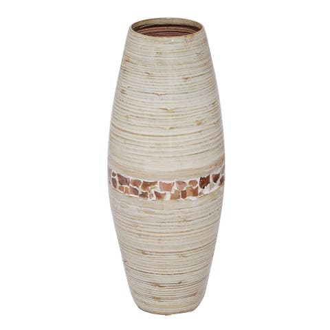 Heather Ann Creations Handspun Red Bamboo Vase