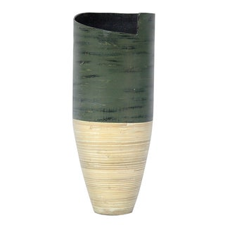 Link to Hand-crafted Glossy Spun Bamboo Floor Vase Similar Items in Decorative Accessories