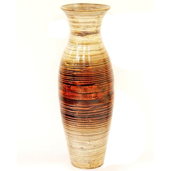 Shop Heather Ann Creations Brown Handspun Bamboo Vase On Sale