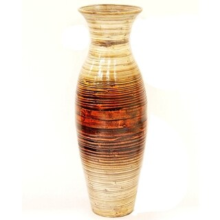 Heather Ann Creations Brown Handspun Bamboo Vase