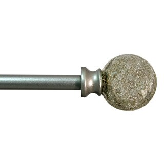 Decor Therapy Silver Crackle Ball Drapery Rod