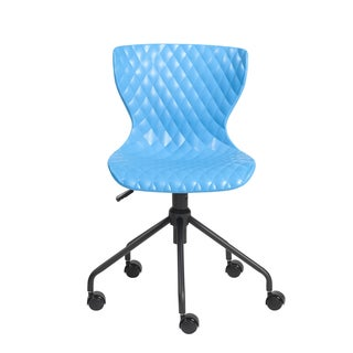 Euro Style Daly Blue Polypropylene Office Chair