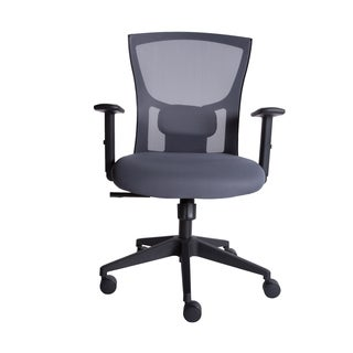 Euro Style Belma Grey Low Back Office Chair