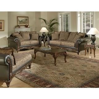 San Marino 2 Tone Chocolate Brown Fabric Sofa   LoveseatFabric Living Room Furniture Sets   Shop The Best Deals for Sep  . Fabric Living Room Furniture. Home Design Ideas