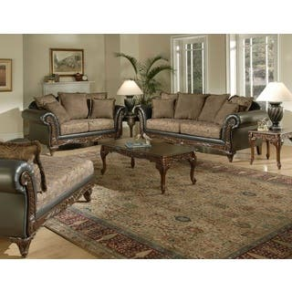 contemporary living room furniture sets. San Marino 2 Tone Chocolate Brown Fabric Sofa  Loveseat Contemporary Living Room Furniture Sets For Less Overstock com