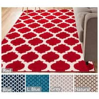 "Well Woven Modern Trellis Lines Area Rug - 5'3"" x 7'3"""