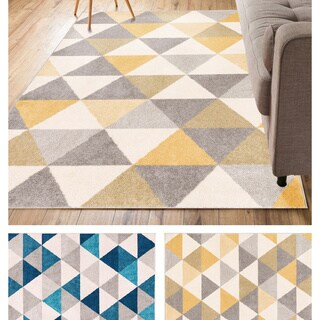 Well Woven Mid-century Modern Geometric Area Rug (5'3 x 7'3) (2 options available)