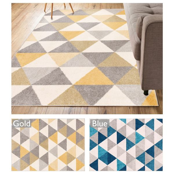 well woven mid century modern geometric area rug (5'3 x 7'3
