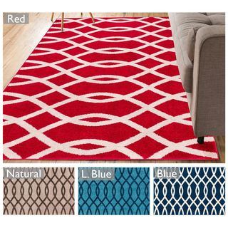 Well Woven Modern Lines Waves Geometric Area Rug (5' x 7')