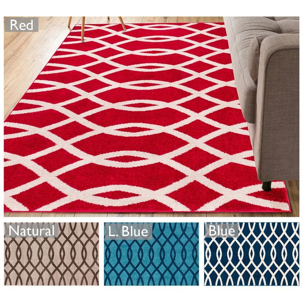 "Well Woven Modern Lines Waves Geometric Area Rug - 5'3"" x 7'3"""