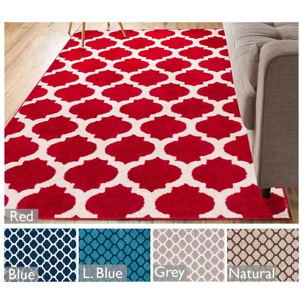 "Well Woven Modern Trellis Lines Area Rug - 7'10"" x 9'10"""