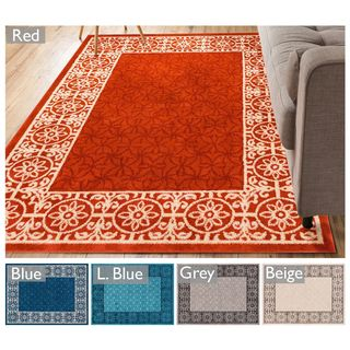 Well Woven Modern Border Geometric Tile Area Rug (7'10 x 9'10)