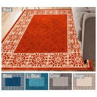 "Well Woven Modern Border Geometric Tile Area Rug - 7'10"" x 9'10"""