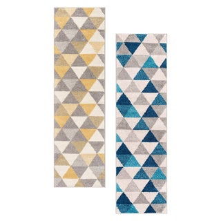 Well Woven Mid Century Modern Geometric Runner Rug - 2' x 7'3 (2 options available)
