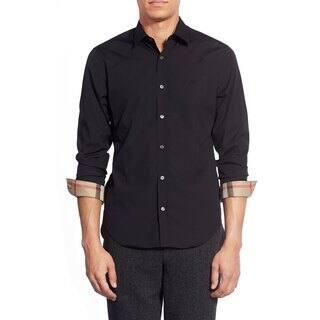 Burberry Cambridge Aboyd Black Shirt|https://ak1.ostkcdn.com/images/products/14681510/P21215458.jpg?impolicy=medium