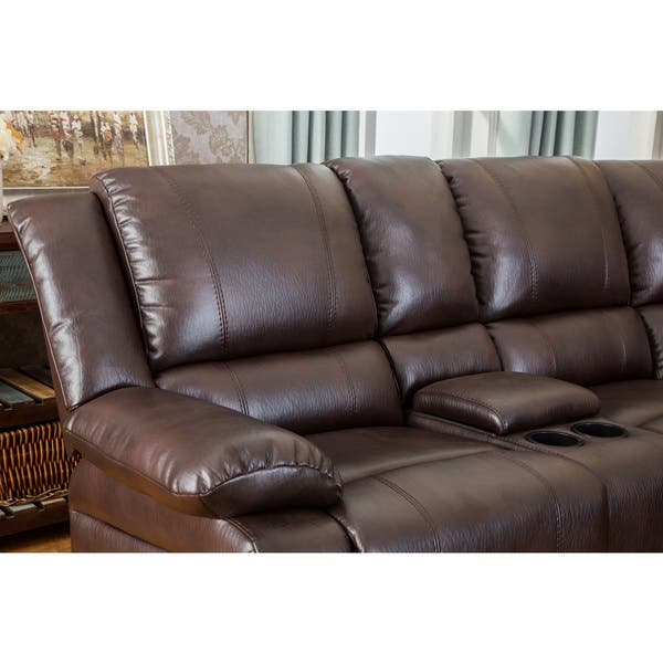 Swell Shop Juno Brown Air Leather Sectional Reclining Sofa With Andrewgaddart Wooden Chair Designs For Living Room Andrewgaddartcom