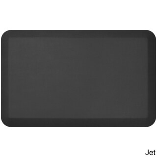 Designer Comfort Leather Grain Anti-fatigue 20 x 32-inch Floor Mat (Option: Black)