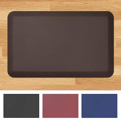 "Designer Comfort Leather Grain Anti-fatigue 20 x 32-inch Floor Mat - 1'8"" x 2'6"" - 1'8"" x 2'6"""
