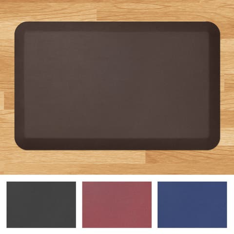 "Designer Comfort Leather Grain Anti-fatigue 20 x 32-inch Floor Mat - 1'8"" x 2'6"""