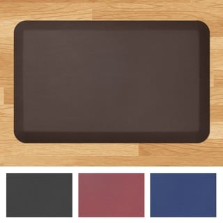 Designer Comfort Leather Grain Anti-fatigue 20 x 32-inch Floor Mat