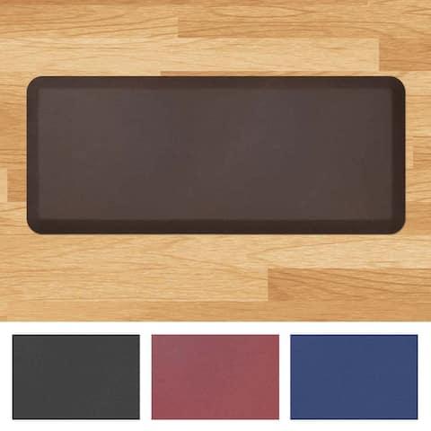 "Designer Comfort Leather-grain Anti-fatigue 20 x 48-inch Floor Mat - 1'8"" x 4' - 1'8"" x 4'"
