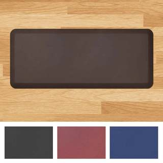 Designer Comfort Leather Grain Anti-fatigue Floor Mat (1'8 x 4')