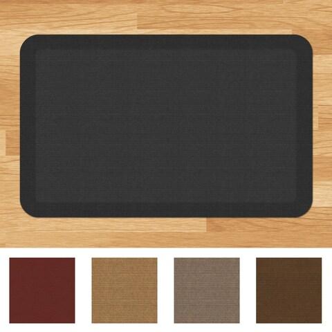 Designer Comfort Grasscloth Anti-fatigue 20 x 32-inch Kitchen Mat